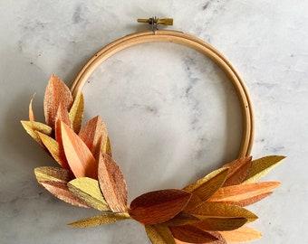Small Autumnal hoop wreath.