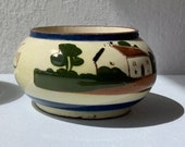 Vintage Devon Mottoware pottery sugar bowl. Sweeten to your liking.