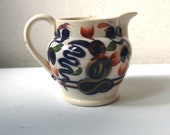 An Antique Gaudy Welsh Pottery Small Milk Jug (1)