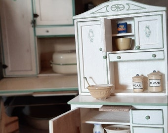 1:12 scale Miniature Hoosier Cabinet Kit
