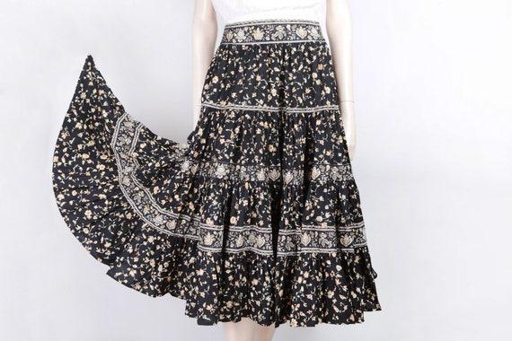 1980 Prairie skirt Soleiado ruffled skirt Provença
