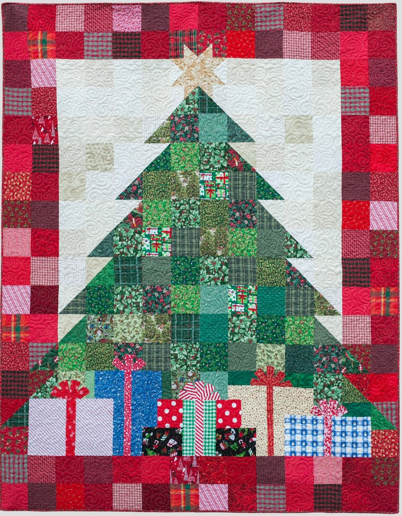 Quilted Christmas Tree Quilt Etsy