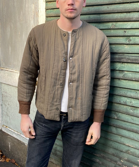1960s Vintage European Military Quilted Chore Jack