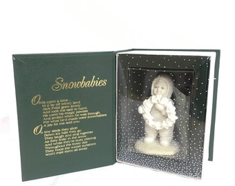 "Snow babies department 56 ""I made this just for you"" porcelain figures"
