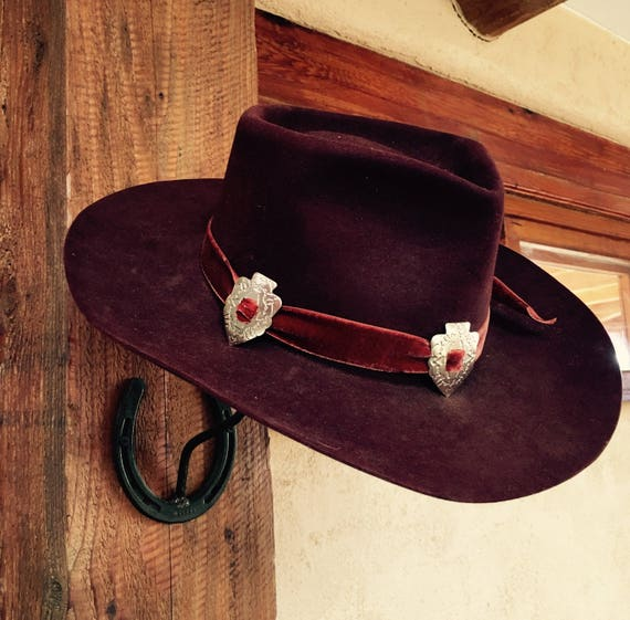 SOLD OUT Vintage Stetson Black Cherry 3X Beaver Cowboy Western  16f28efc054