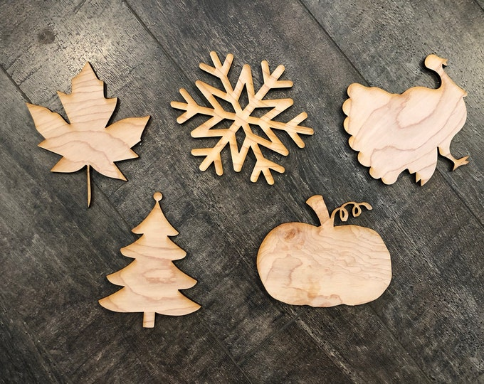 Blank 6 inch wood shape cut out for HOME signs and other crafts