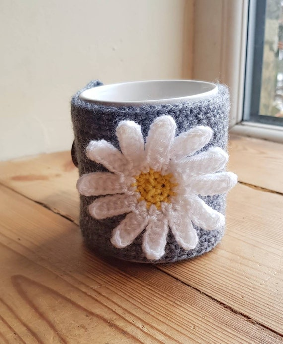 Handmade Crochet Hibou Mug Cosy