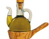 Oil Jugs or Vinegar Jugs with Wooden Coasters Kitchen Helper Oil Donors