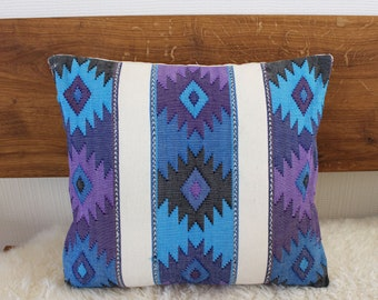 Sofa Pillow indefinitely blue one side   Deco Pillow 40 x 40