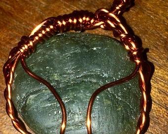 Labrodite and copper wire wrap