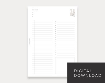 PRINTABLE A5 Undated Daily No. 2 (Day on 1 page)