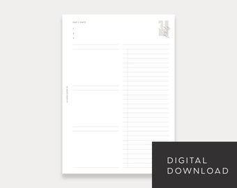 PRINTABLE A5 Undated Daily No. 1 (Day on 1 page)