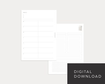 PRINTABLE A5 Undated Weekly No. 3 (Week on 2 pages)