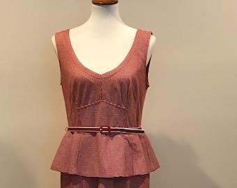 Nanette Lepore red and white dress