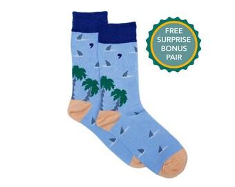 Lucky Socks Summer Socks **NOT VINYL** Beach Socks Under the Sea