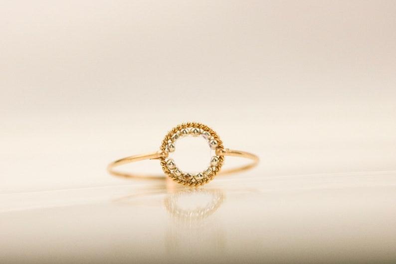 14k Gold Ring \u2022 Half Eternity Ring CZ Diamond \u2022 Wedding Band \u2022 Dainty Ring \u2022 Engagement Ring \u2022 Stacking Ring \u2022 Minimalist Ring