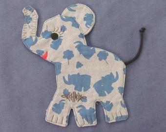 Mug Rug | Handquilted | elephant | cutout