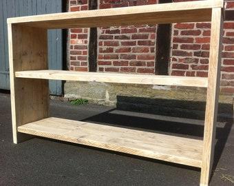 Regal aus recyceltemaltem Bauholz Gerüstbaubrett | Etsy