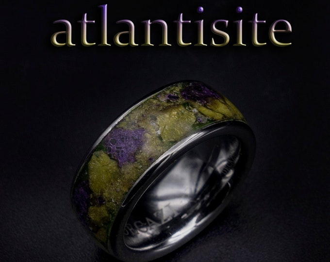 atlantisite ring, earth stone ring, Glow in the dark ring, Healing crystal ring, healing crystals and stones, jewelry, necklace, pendants.