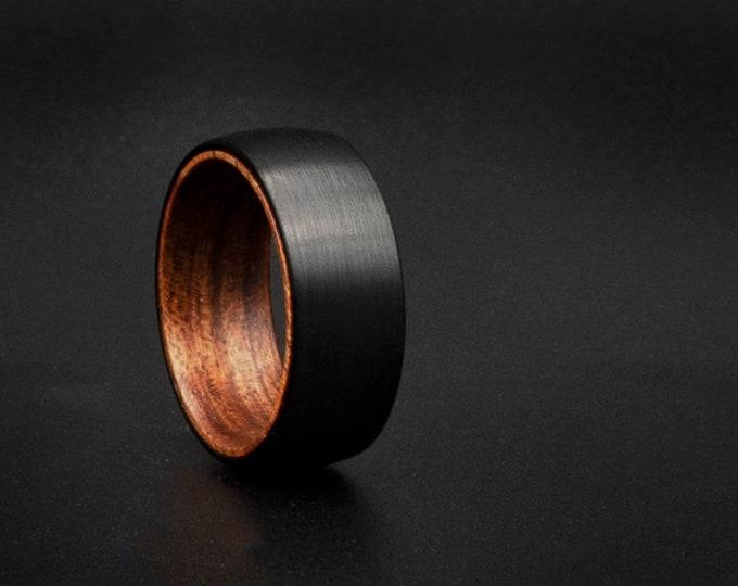 Black tungsten ring, cheap ring, deer antler ring, Cheap wedding ring, unique wedding band, couple ring, cheap jewelry, , cool man, bone,