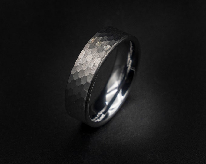 Hammered ring, tungsten ring, wedding band mens, rings for men, opal ring, decazi, mens wedding band, 5mm ring, silver ring,