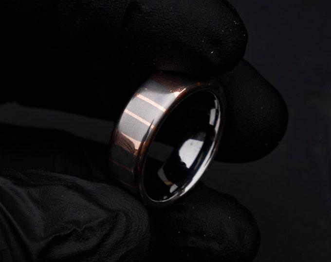 Superconductor ring, mens wedding band, unique mens ring, Valentines day gift, personalised gift, titanium niobium.