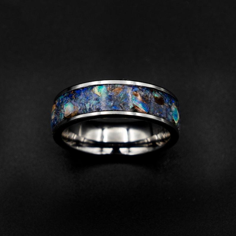 australian opal ring rough opal ring opal ring men image 0