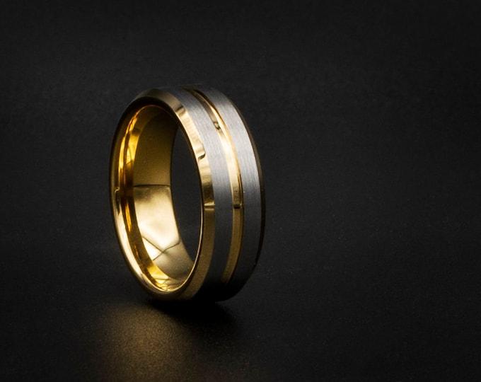Gold tungsten ring, Cheap wedding ring, unique wedding band, cheap ring, couple ring, cheap jewelry, cool man, mens wedding