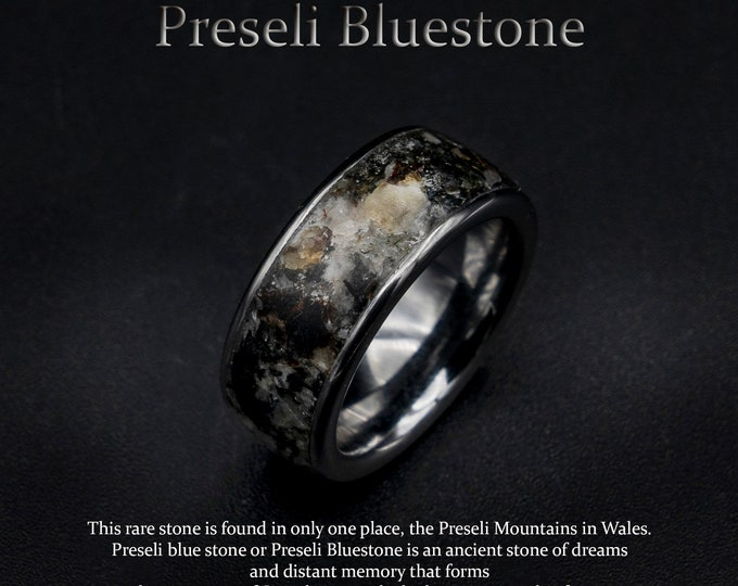 preseli bluestone ring, earth stone ring, Healing crystal ring, healing crystals and stones, jewelry, necklace, pendants.