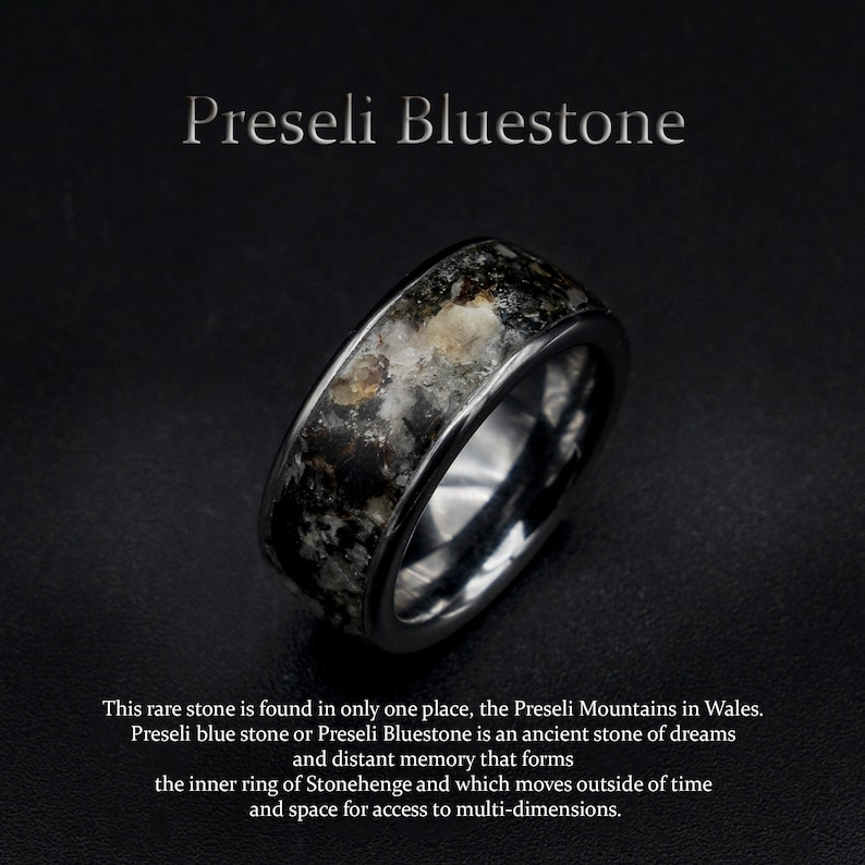 preseli bluestone ring earth stone ring Healing crystal image 0