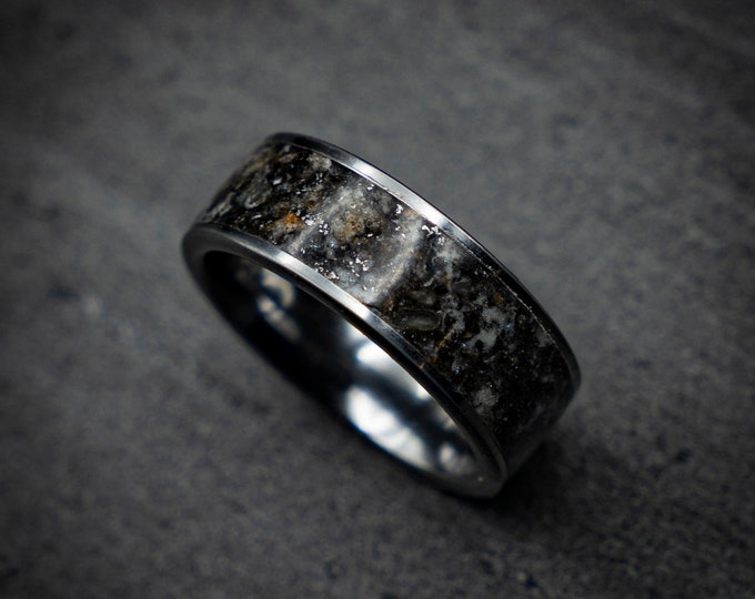 gift for him, engagement rings, Meteorite mens ring, Mens wedding band, Mens meteorite ring, meteorite ring, mens wedding band.