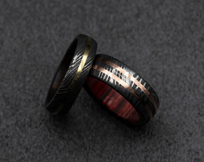 rustic wedding ring, Damascus ring mens, damascus steel and mens ring, men's rustic ring, mens wedding band, gun metal