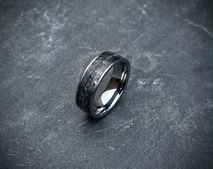 meteorite wedding band, mens wedding band, mens wedding rings, mens ring, meteorite ring, mens rings, cape york, lunar meteorite.