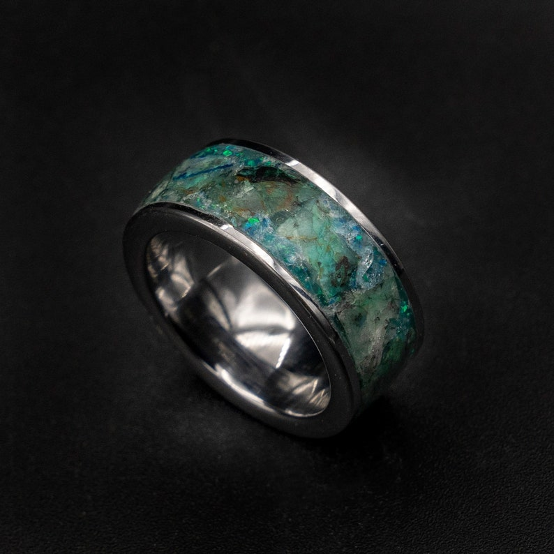 Quantum Quattro ring Glow in the dark ring Healing crystal image 0