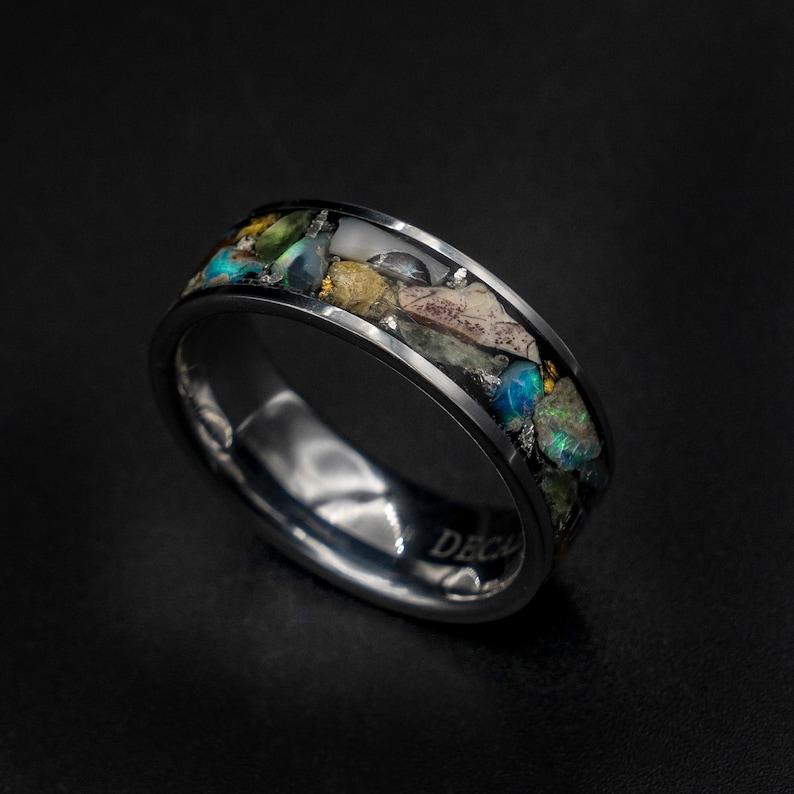 Design you own ring Custom mens ring Opal engagement ring image 0