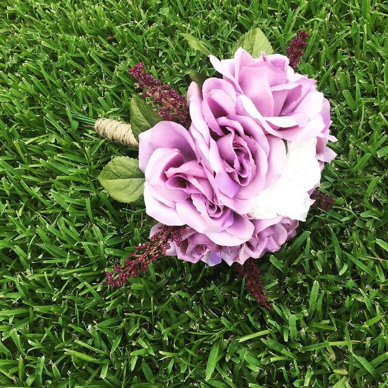 Purple bouquet wedding flowers lavender bouquet purple flower wedding bouquetbridesmaid bouquet