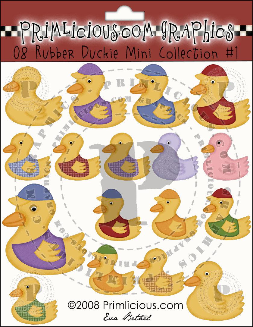 Gummi Duckie Mini Collection 1   Etsy