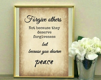 Forgiveness Quote Etsy
