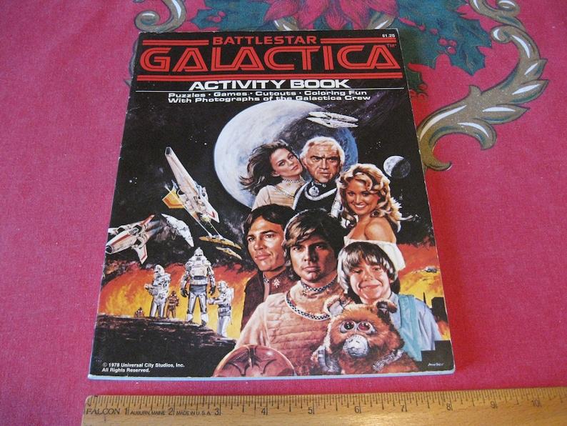 Vintage Battlestar Galactica Activity Coloring Book 70s Awesome Collectibles