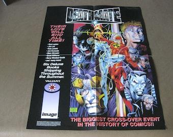 Deathmate Valiant Image Comic Promo Poster Jim Lee, Bob Layton, Barry Smith 1993