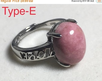 CRAZY 30% OFF Rhodonite,Rhodonite Ring, gift for her, anniversary gift,gift for mom,Adjustable size, Healing Stone. best friend gift,On sale