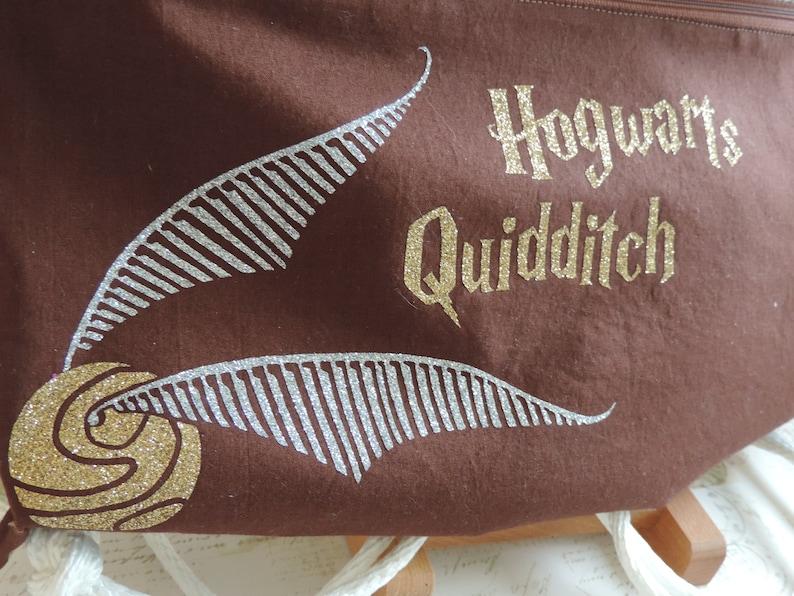 Harry Potter Inspired Drawstring Bag Hogwarts Quidditch