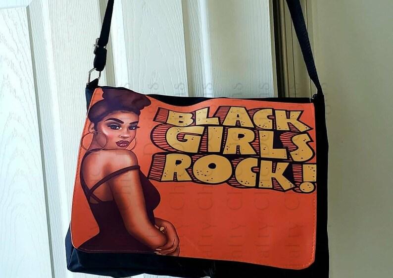Custom Black Girls Rock Messenger Bag