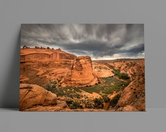 Arches National Park Storm Metal Print