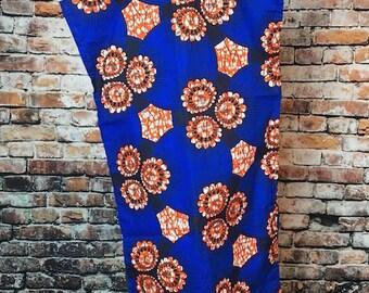 Selma Blue African HeadWrap