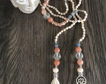 Like new, 108 mala beads knotted