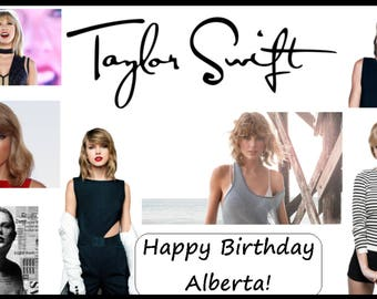Birthday Cake Edible Image Printed Topper Decoration CUSTOM TAYLOR SWIFT A5