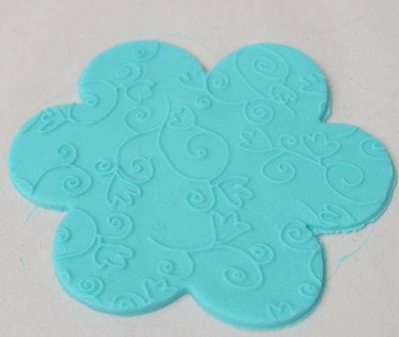 Flowers Vine effect Texture Embossing Acrylic Rolling Pin cake decorating