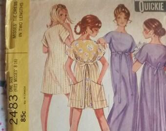 1970's girl's dress bridesmaid pattern