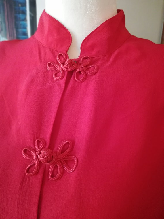 Vintage 80's Red silk blouse